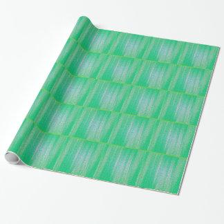 Kallt anpassningsbargröntmönster som slår in presentpapper