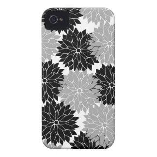 Kallt blom- tryck för svart- och iPhone 4 Case-Mate skal