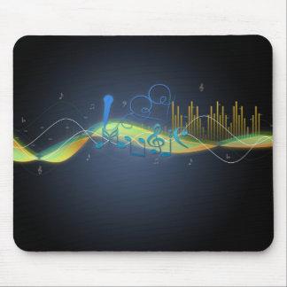 Kallt glöda verkställer musik noter som hjärta vir mus mattor
