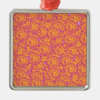 Kallt gulligt virvlar runt flickaktigt rosa och julgransprydnad metall