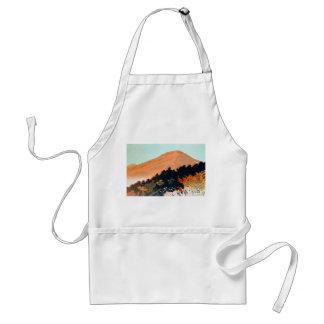 Kallt japanskt Fuji för höstnedgångberg landskap Förkläde