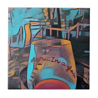 Kallt konstnärligt vinexponeringsglas kakelplatta