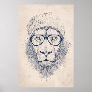 Kallt lejont affischer