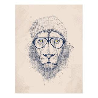 Kallt lejont vykort
