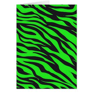 Kallt moderiktigt mönster för zebra ränder för hälsningskort