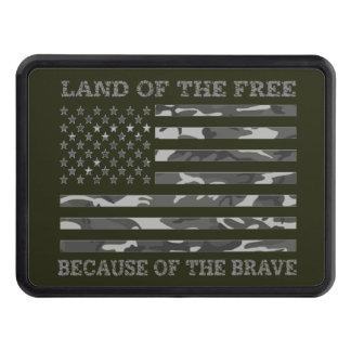 Kallt patriotiskt amerikanska flagganland av det dragkroksskydd