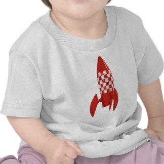 Kallt Retro utrymmeraket för SciFi 3d Tee Shirt