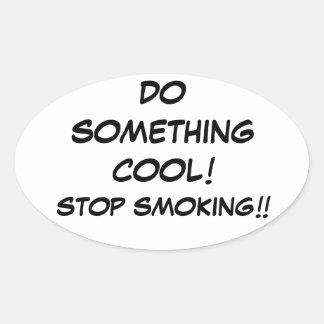 KALLT stopp som röker klistermärken