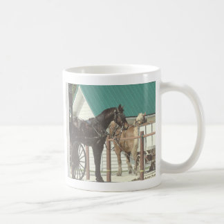 Kalona Amish hästar Kaffemugg