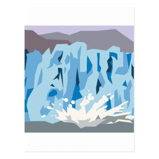 Kalva för glaciär vykort