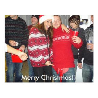 Kam och Jess, god jul!! Vykort