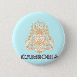 Kambodjansk Emblem Standard Knapp Rund 5.7 Cm