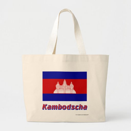 Kambodscha Flagge mit Namen Kasse