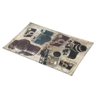 Kamera för vintage för Grungefotograffotografi Bordstablett