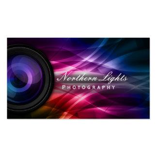 Kamera Lens & aurorafotografivisitkortar Set Av Standard Visitkort