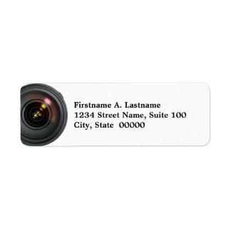 KameraLens adressetiketter