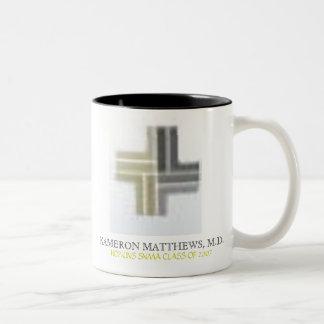 KAMERON-MATTHEWS, M.D., HOPKINS SNMA KLASSIFICERAR Två-Tonad MUGG
