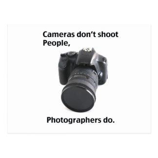 Kameror skjuter inte folk vykort