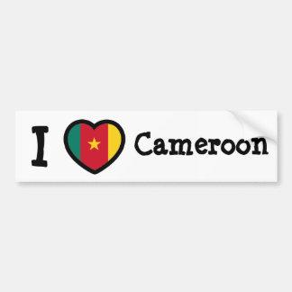 Kamerunflagga Bildekal