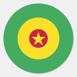 Kamerunsk modrundaklistermärke runt klistermärke