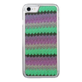 Kammussla för vågar för lila för svart för Mint Carved iPhone 7 Skal