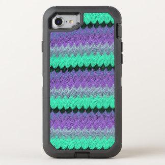 Kammussla för vågar för lila för svart för Mint OtterBox Defender iPhone 7 Skal