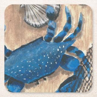 Kammusslan krabba och förtjänar underlägg papper kvadrat