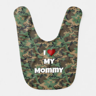 """Kamouflage """"älskar jag babyhaklappen för min mammo hakklapp"""