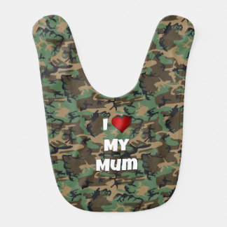 """Kamouflage """"älskar jag babyhaklappen för min morsa hakklapp"""
