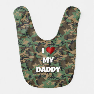 """Kamouflage """"älskar jag babyhaklappen för min pappa hakklapp"""