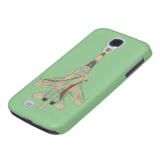 Kamouflagejetkämpe Galaxy S4 Fodral