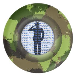 Kamouflagepersonligfoto Tallrik