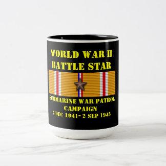 Kampanj för ubåtkrigpatrull Två-Tonad mugg