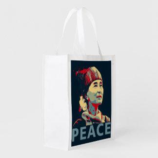 KÄMPEN - Aung San Suu Kyi återvinningsbar | hänger Återanvändbar Påse
