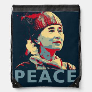 KÄMPEN - Aung San Suu Kyi Drawstringryggsäck Gympapåse
