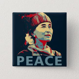 KÄMPEN - Aung San Suu Kyi   knäppas Standard Kanpp Fyrkantig 5.1 Cm
