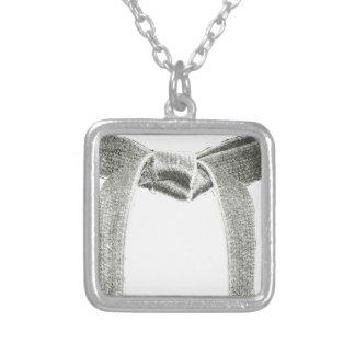 Kampsportbältedesign Halsband Med Fyrkantigt Hängsmycke