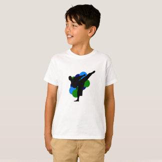 Kampsportungeskjorta med bakgrund tröja