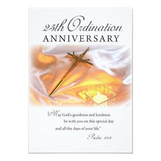 Kan den 25th prästvigningårsdagen för inbjudan, 12,7 x 17,8 cm inbjudningskort