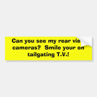 Kan du se min baksida beskåda kameror?  Le din nol Bildekal