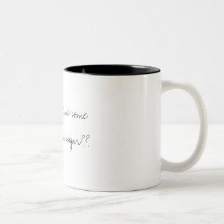 Kan jag behaga att ha något kaffe med mitt Två-Tonad mugg