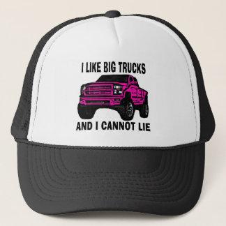 Kan lika stora lastbilar för rosor inte ljuga truckerkeps