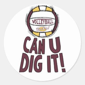 Kan U-piken det volleyboll Runt Klistermärke