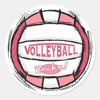 Kan U-piken det volleybollrosor Runt Klistermärke