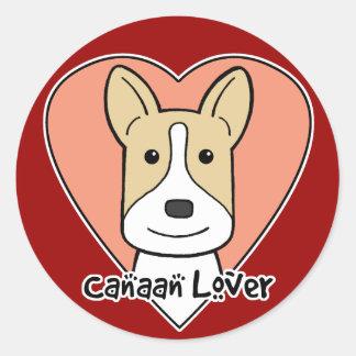 Kanaan hund älskare runt klistermärke