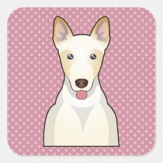 Kanaan hundtecknad fyrkantigt klistermärke