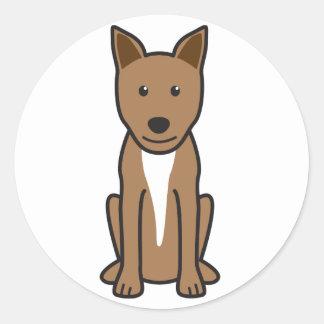 Kanaan hundtecknad runt klistermärke