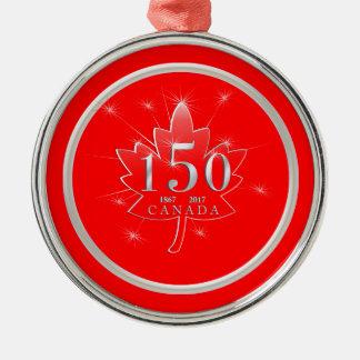 Kanada 150 födelsedag firandelönnlöv julgransprydnad metall