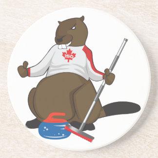Kanada 150 i 2017 krulla för bäver som är underlägg