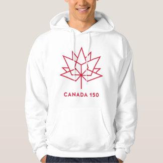 Kanada 150 logotyp tröja med luva